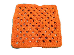 Green, White, Orange Crochet Granny Square Wash Clothes - Dish clothes, baby accessories, - Sissystreasurechest