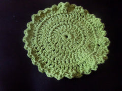 green crochet washcloth dishcloth