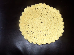 yellow crochet washcloth dishcloth