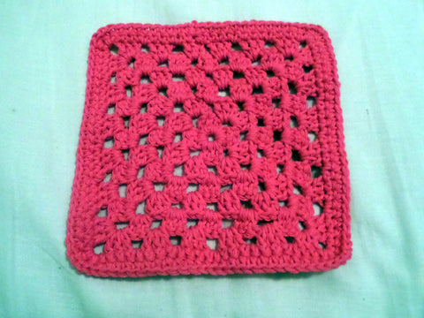 Crochet Cotton Dishcloth / Washcloth