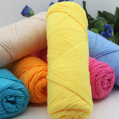 mylb wholesale 10 pcs/lot 500g natural soft silk milk cotton yarn thick yarn for knitting baby wool crochet yarn weave thread