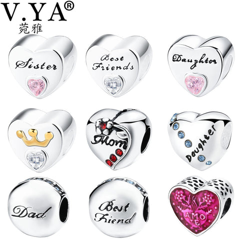 Friendship Bead Charms Beads fit for Pandora Bracelet Bangle
