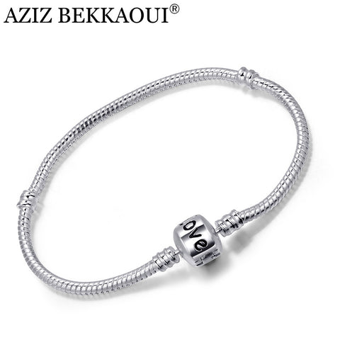 New Snake Chain Silver Plated Screw Bracelets