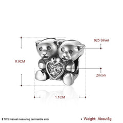 Beads Fit Pandora Bracelets Necklace Solid 925 Sterling Silver Beads - Sissystreasurechest