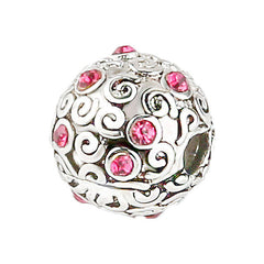 Pink DIY Beads Charms fit for Pandora Necklaces Bracelets - Sissystreasurechest