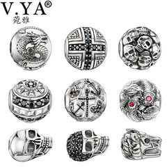 Rhinestone Beads Charms fit for Pandora Bracelet - Sissystreasurechest