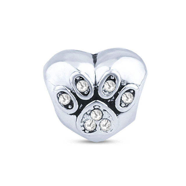 V.YA Flower Beads Dog Claws Charms fit for Pandora Bracelets Necklaces Women Men DIY Bead for Jewelry Making - Sissystreasurechest