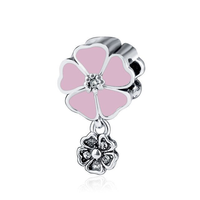 Rose Garden Charm Beads Fit Pandora Original Bracelet - Sissystreasurechest