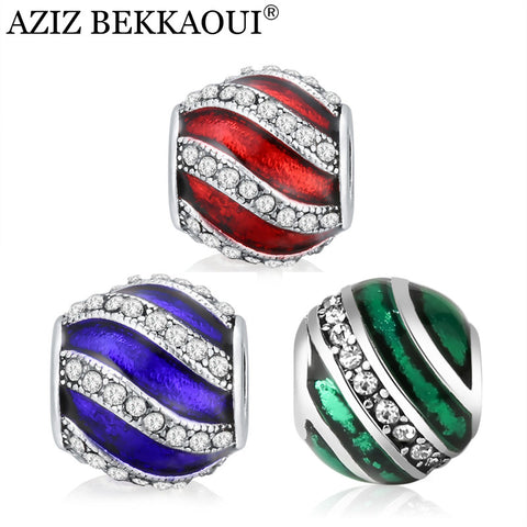 Crystal Beads Fit Pandora Bracelet Charms For Women Fashion European Jewelry