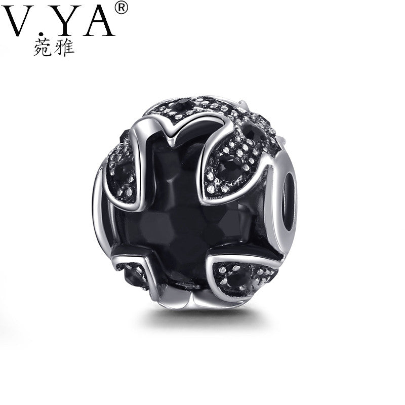 Bead fit for Pandora Cross Stone Crystal Beads for Chain - Sissystreasurechest