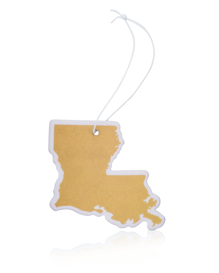 Gold Louisiana Air Freshener