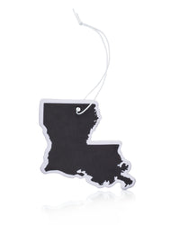 Black Louisiana Car Air Freshener