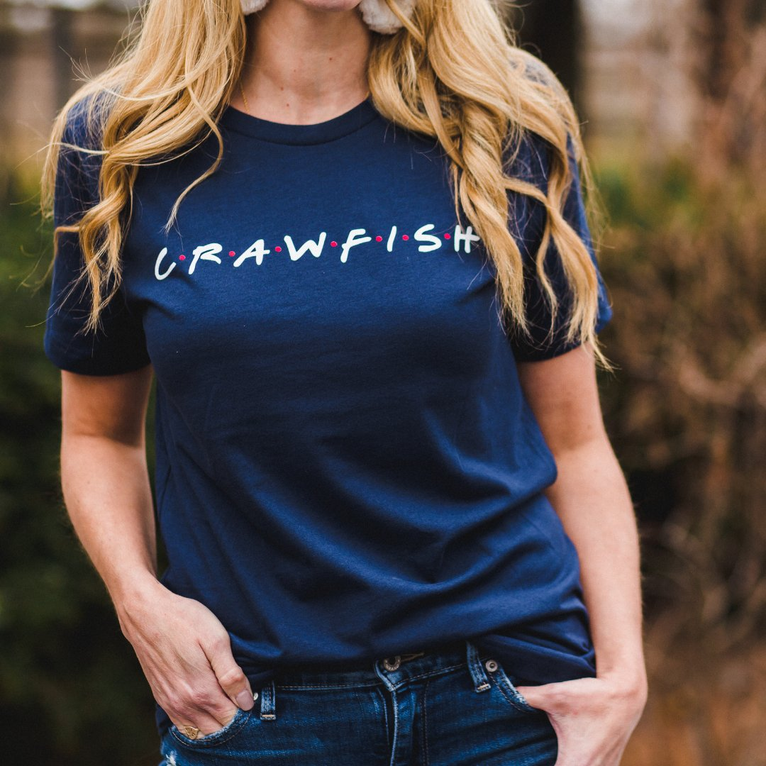 Unisex Friends Blue Crawfish T Shirt Top