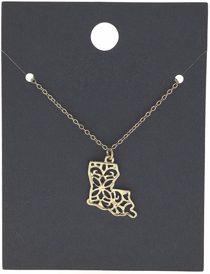 Louisiana Filigree Gold Necklace