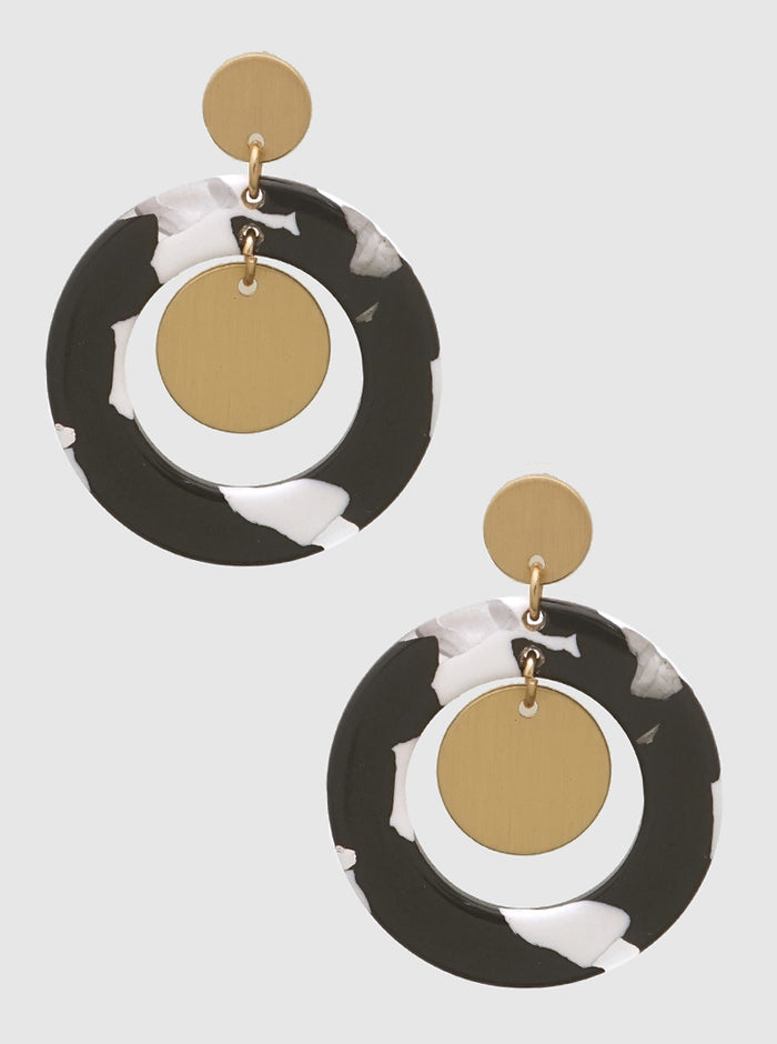 CELLULOSE ACETATE ROUND SHAPE EARRINGS 17