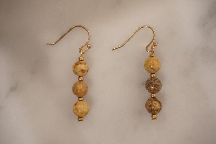 LA2LA Handmade Earthy Beaded Earrings