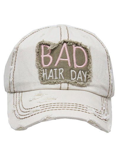 Bad Hair Day Washed Vintage Cap