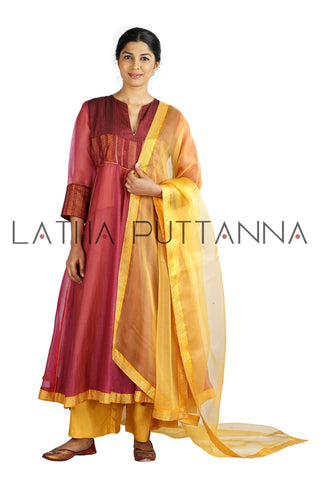 Rose Pink and Yellow Salwar