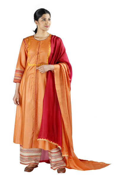 Orange Silk Salwar