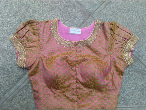 Simple Brocade with Puff Sleeves