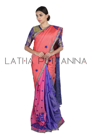 Four colour silk saree