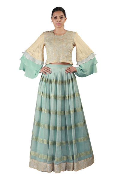 Powder Blue Lehenga