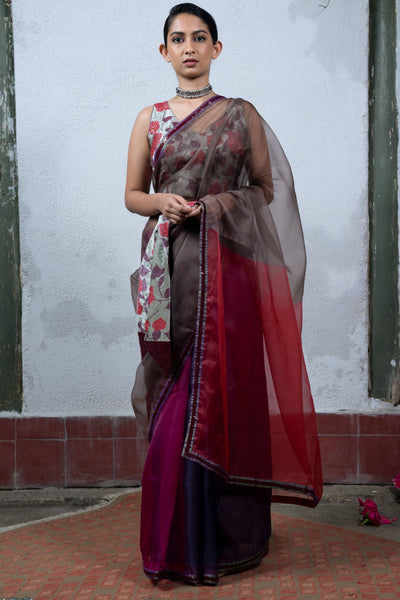 Four Color Saree