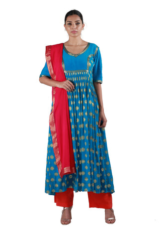 Striking Blue Salwar