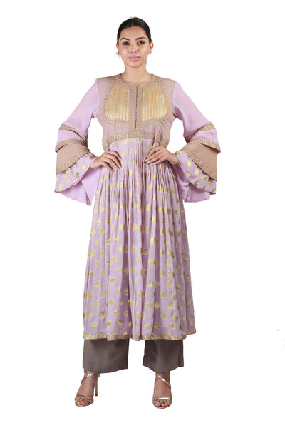 Mauve with Grey Salwar