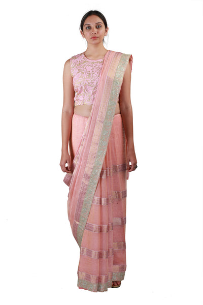 Blush Pink Saree
