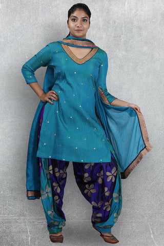 Blue Patiala Suit