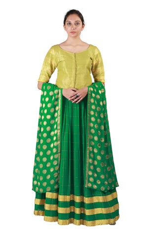 Green and Yellow Lehenga
