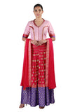 Pink and Purple Lehenga