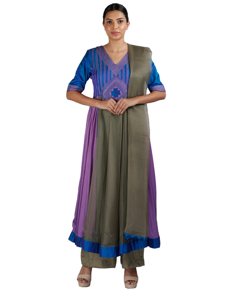 Blue and Grey Salwar
