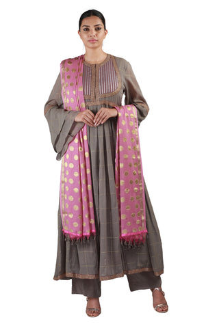 Grey with Pink Salwar