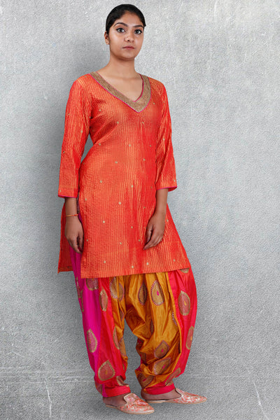 Orange Patiala Suit