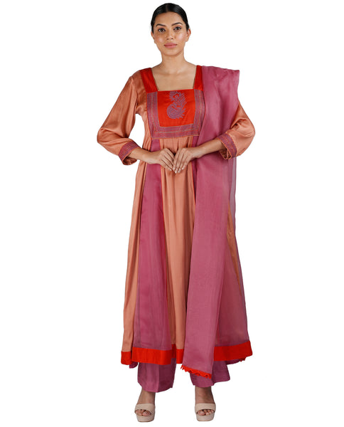Red and Rust Salwar