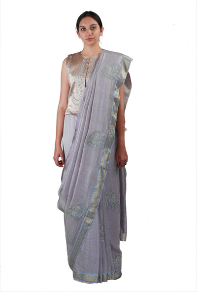 Soft Grey Saree