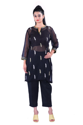 Black Georgette kurta