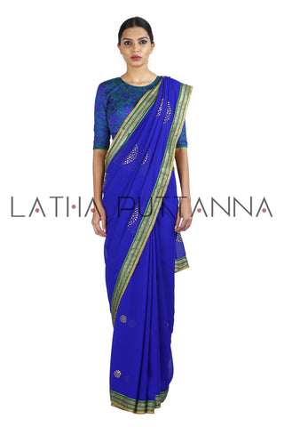Modern Twist to Shrishti in Blue