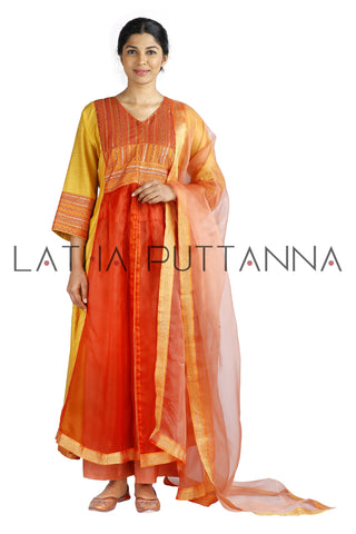 Orange & Yellow Salwar