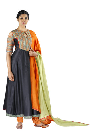 Black Silk Salwar