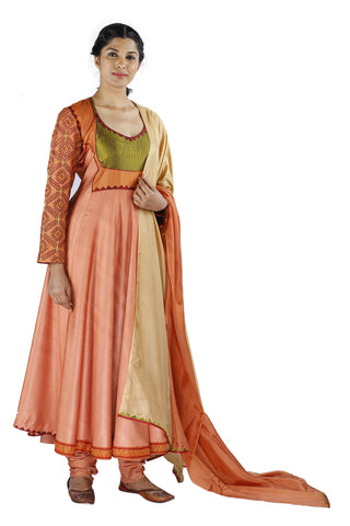 Peach Silk Salwar