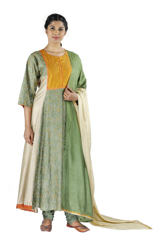 Green Silk Salwar