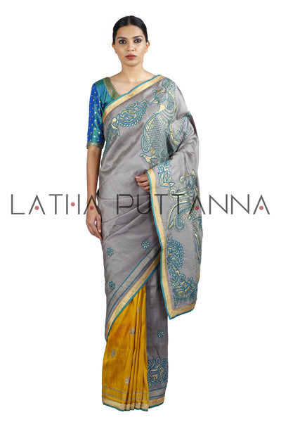 Deepavali -  Two Colour Silk Saree