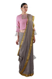 Taupe Grey Saree