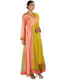 Peach and Green Salwar