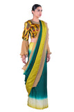 Green silk Saree