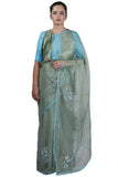 Sea Green Organza Saree