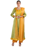 Yellow and Green Salwar